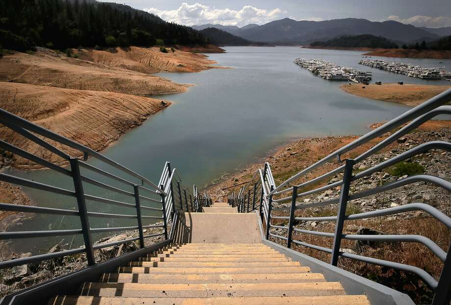 Shasta Lake is currently at all time low levels in this the fourth year of a drought throughout Califorinia, as seen on Tues. April 28, 2015, in  Shasta, Calif. Photo: Michael Macor, The Chronicle