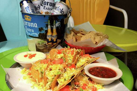 Celebrate Cinco de Mayo with a special beer and tacos platter at Doc's Motorworks.
