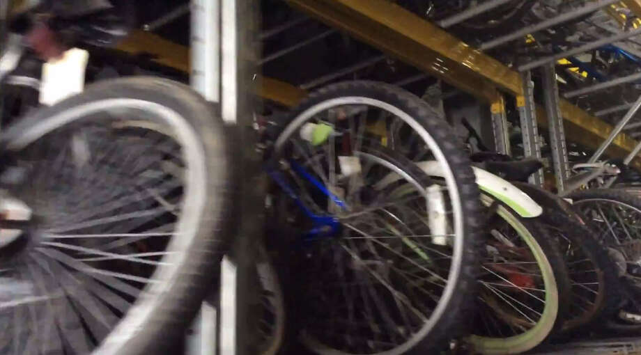The Houston Police Department is asking residents to come retrieve their unclaimed property from their Property Division storage room. Most of the items inside are stolen goods that were later recovered by HPD. (Pictured: Bicycles) Photo: Houston Police
