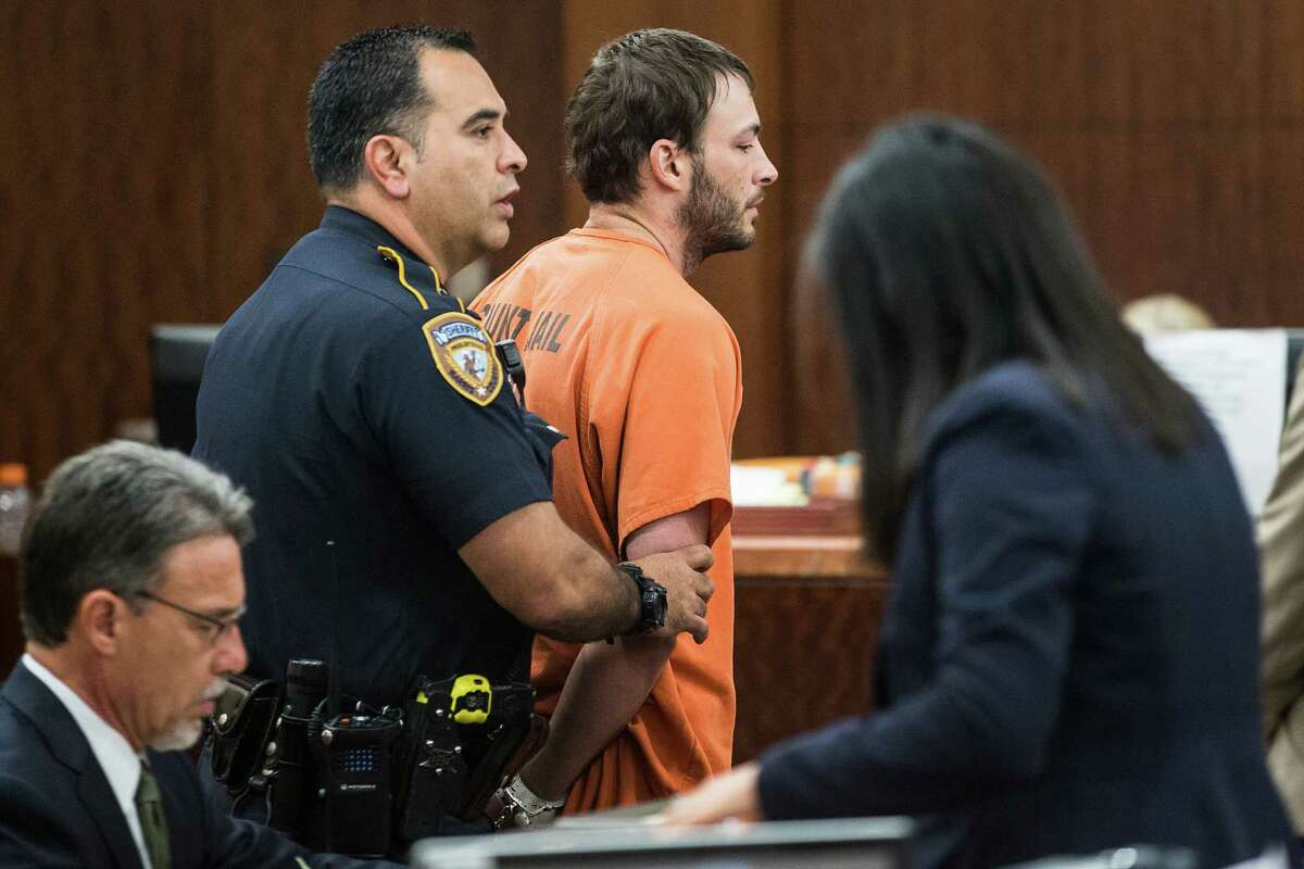 Blaine Boudreaux appears in court on charges stemming from a pair of fatal accidents on Wednesday, April 29, 2015, in Houston. Boudreaux is charged with intoxication manslaughter in connection with a wreck that killed a 6-year-old boy on Sunday. He is also implicated in a fatal wreck hours earlier.
