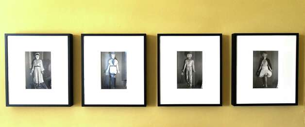 """Cindy Sherman's untitled photos -- """"River Crossings"""" artworks hanging at the Thomas Cole historic home Friday April 24, 2015 in Catskill, N.Y. (Skip Dickstein/Times Union) Photo: SKIP DICKSTEIN / 00031457A"""