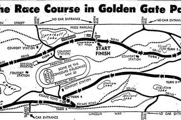 Guardsmen auto racing in Golden Gate Park  Historic Chronicle page