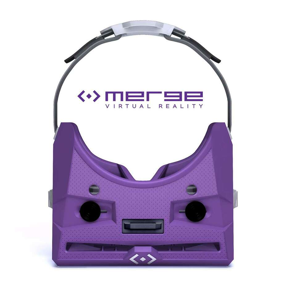 Top view of the MergeVR Virtual Reality Goggles. Your phone plugs into the slot at the front. Photo: MergeVR