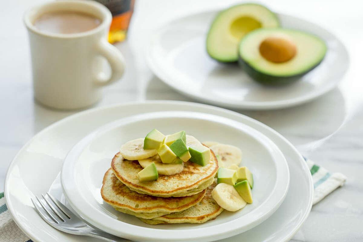 Avocado and Banana Pancakes (Hass Avocado Board)