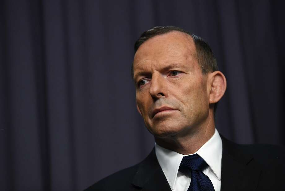 Prime Minister Tony Abbott speaks to the media after recalling the ambassador to Indonesia. Photo: Lukas Coch, Associated Press