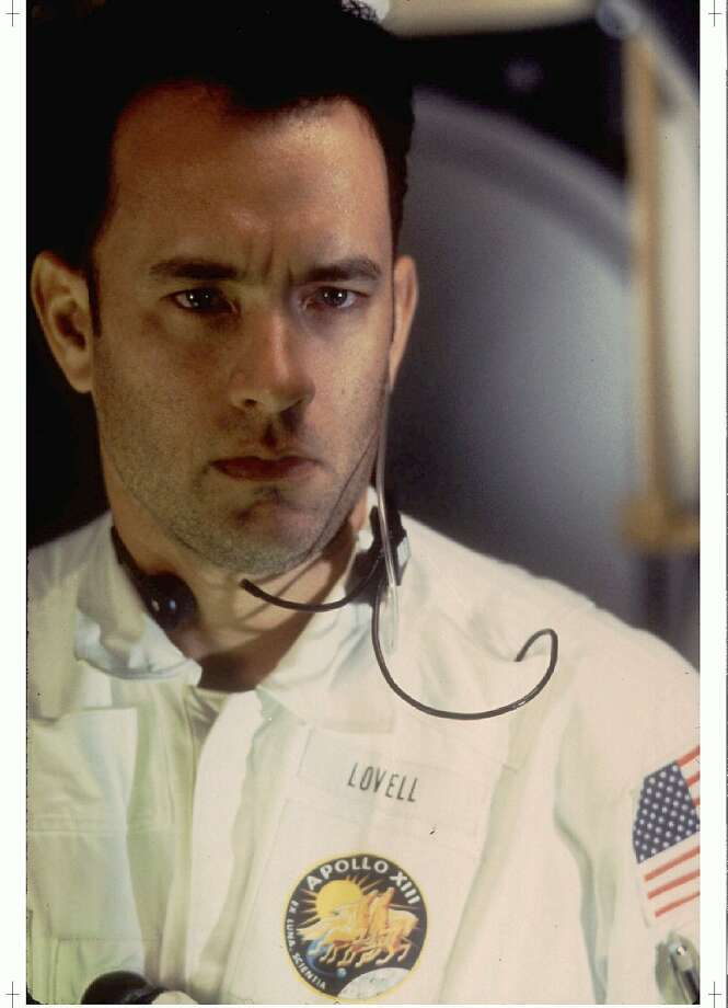 "LOA10:APOLLO 13:LOS ANGELES,16JUN95- Tom Hanks stars as astronaut Jim Lovell in the new film ""Apollo 13"" about the ill-fated lunar mission. The film directed by Ron Howard opens in the United States June 30. Lovell was the commander of the Apollo 13 mission. fsp/Photo by Universal Studios REUTERS Photo: Universal Studios, REUTERS"