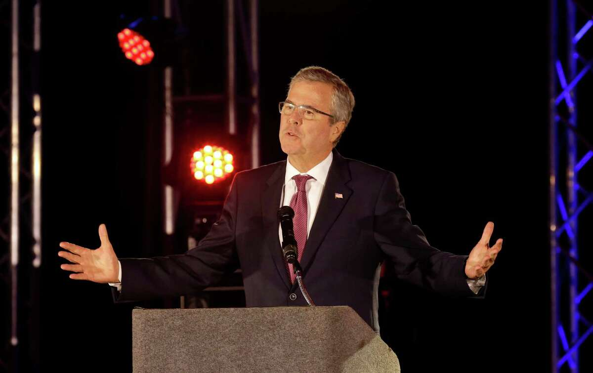 Jeb Bush speaks at the National Hispanic Christian Leadership Conference at Crowne Plaza Houston, 8686 Kirby Drive, Wednesday, April 29, 2015, in Houston.