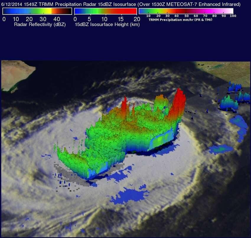 Arabian Sea tropical storm Nanauk, 6/12/2014 Hal Pierce at the Global Precipitation Monitoring mission