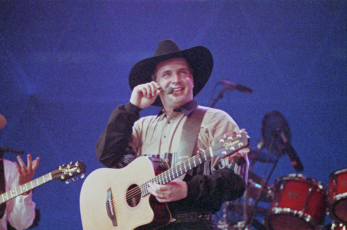 PHOTOS: Garth Brooks previous concerts in Houston Garth Brooks at the Houston Livestock Show and Rodeo, Feb. 21, 1991, in the Astrodome.