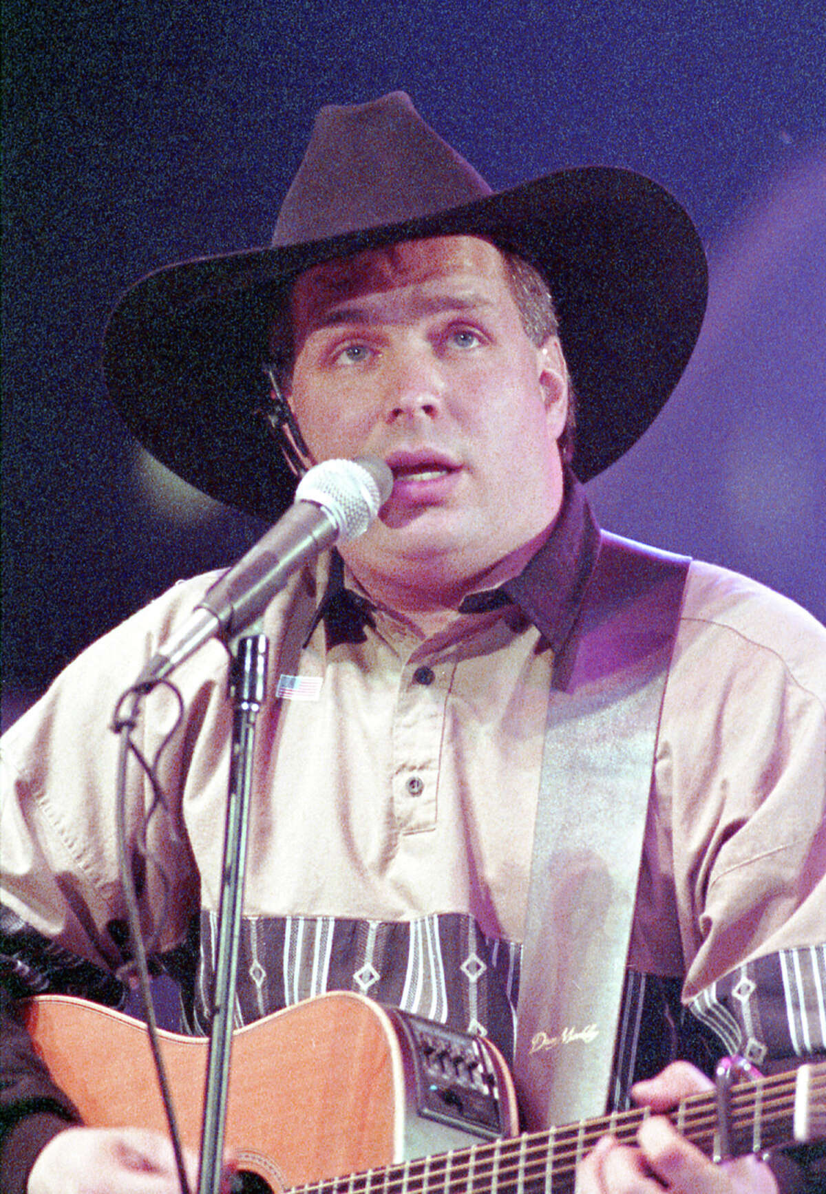 Garth Brooks at the Houston Livestock Show and Rodeo, Feb. 21, 1991, in the Astrodome.