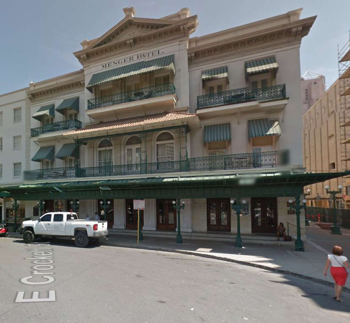 A view of the Menger Hotel today.