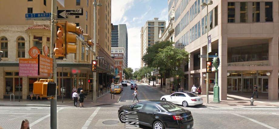 St. Mary's and Houston Streets today. Photo: Mendoza, Madalyn S, Google Street View