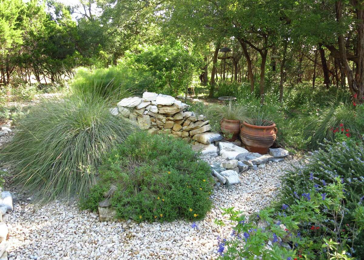 This backyard garden provides shelter, nesting material, food and water for birds; and a peaceful vista for the homeowners.