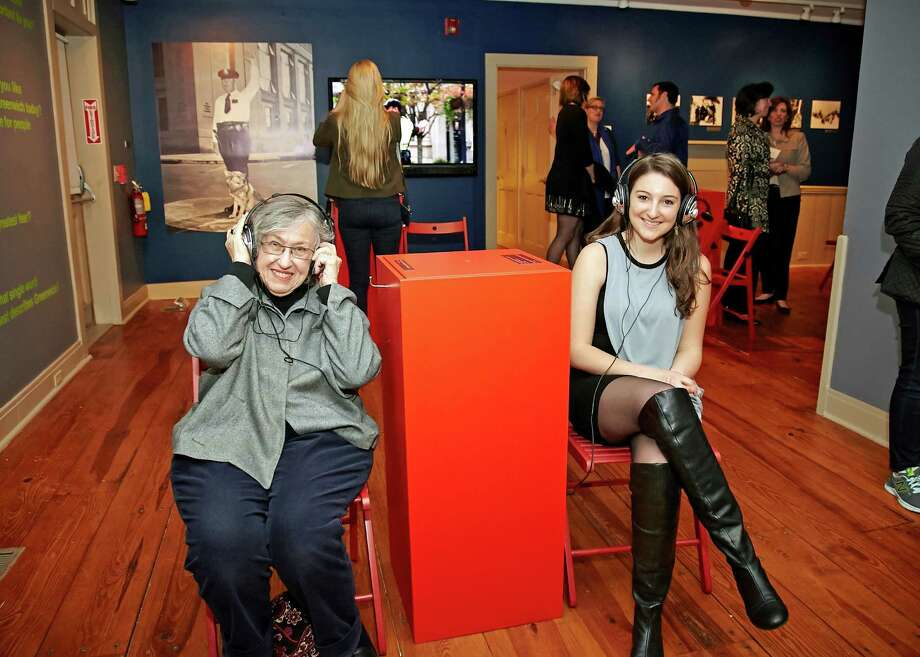 Carol Dixon and Elizabeth Day hear about life in Greenwich circa 2015. Photo: Contributed Photo / Greenwich Time Contributed