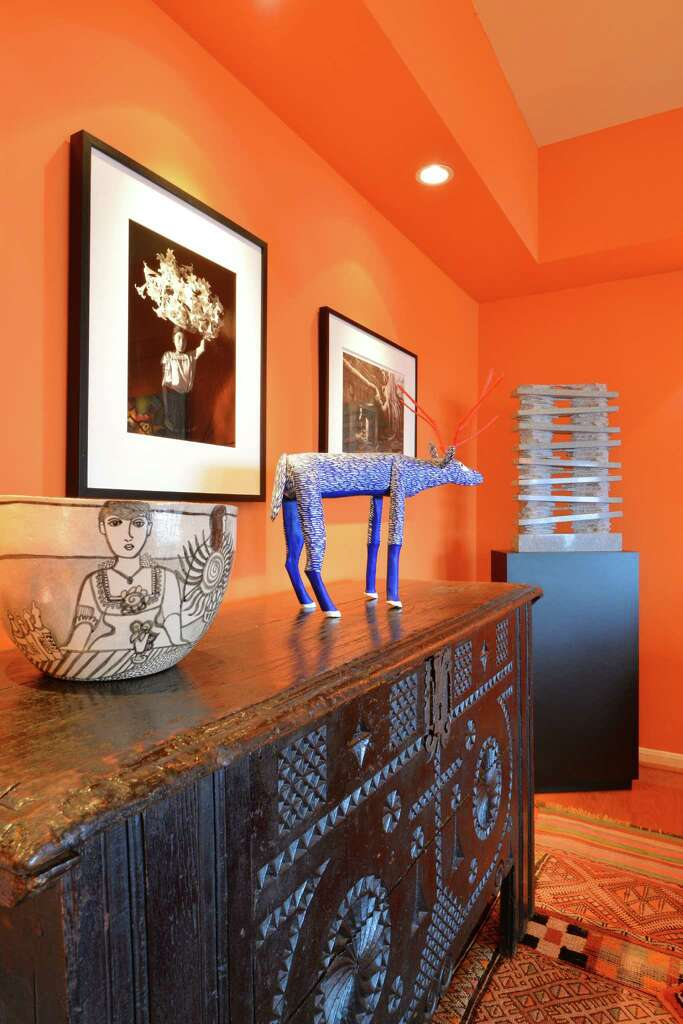 Orange Walls before and after: houston designer's high-rise condo went from