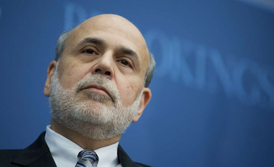 FILE - In this Thursday,  Jan. 16, 2014, file photo, then Federal Reserve Chairman Ben Bernanke speaks at the Brookings Institution in Washington. Pimco has hired former Bernanke as a senior adviser, the bond fund said Wednesday, April 29, 2015. (AP Photo/Manuel Balce Ceneta, File) Photo: Manuel Balce Ceneta, Associated Press