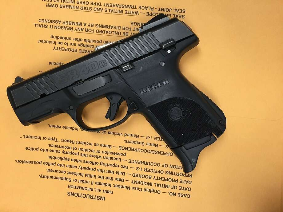 A handgun that was recovered from the scene where San Francisco police officers arrested a suspect on Wednesday April 29, 2015. Police believe the suspect shot a man on a Muni train earlier in the week, wounding him critically. Photo: Courtesy, San Francisco Police Department