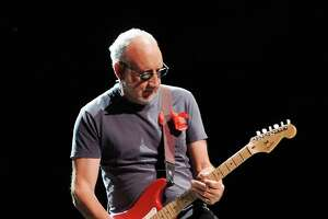 "Pete Townshend performs during the band's  ""The Who Hits 50"" tour at Toyota Center Wednesday April 29, 2015.(Dave Rossman photo)"