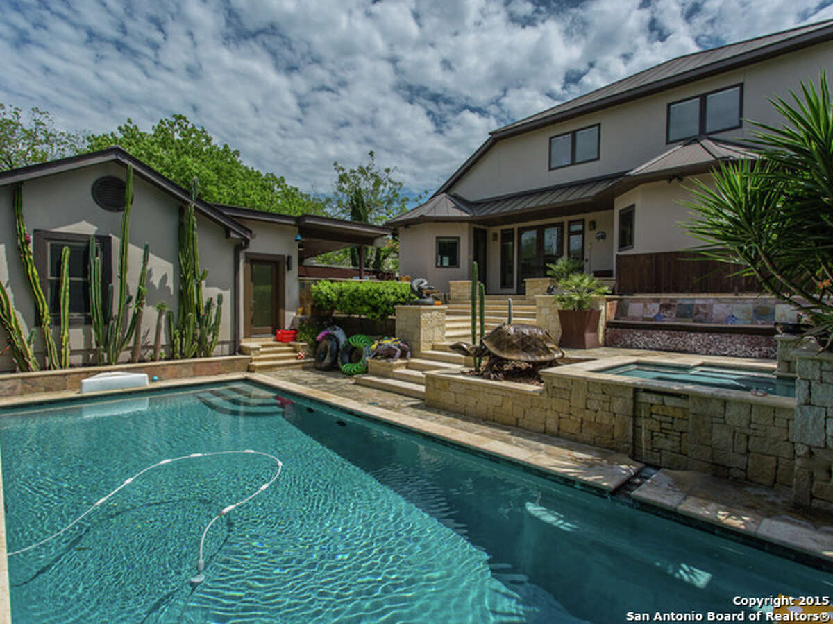 215 Cloverleaf Ave., San Antonio Price: $765,000 Exterior features: Covered, fully equipped outdoor kitchen, including a grill, sink and refrigerator; an outdoor living area; a pool; a Jacuzzi; and a guest house. Bedrooms: 3 Bathrooms: 2.5 MLS: 1109544
