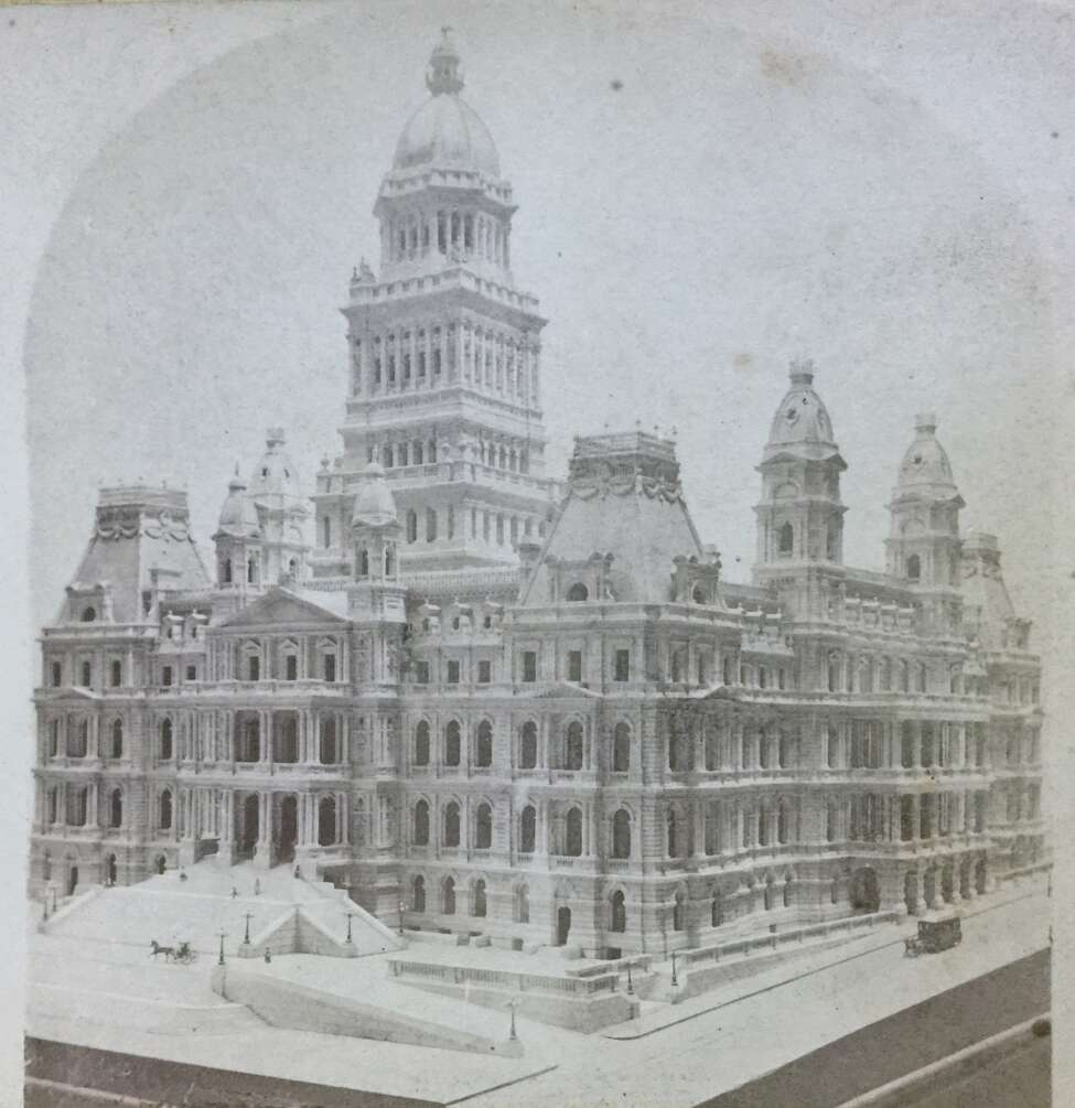 Click through the slideshow to view photos from the New York's State Capitol's early days. A photo from a stereoscopic slide circa 1876 of a $4,000 scale model of the State Capitol made by architects Fuller and Laver. This design was revised considerably as construction proceeded.