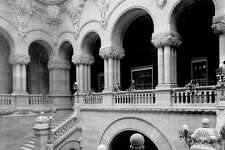 Staircase inside the State Capitol, ca. 1900, Albany, N.Y. (Library of Congress)