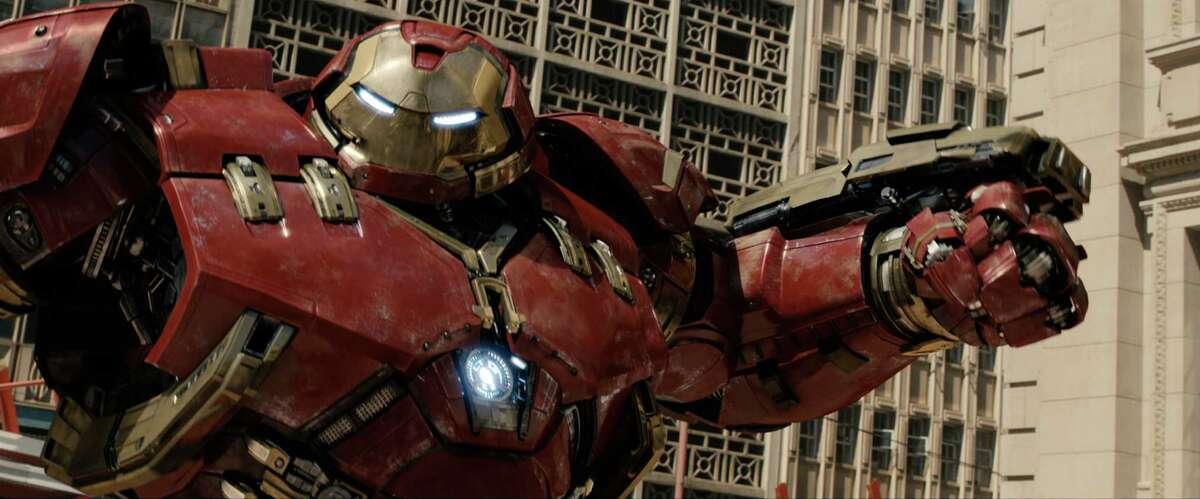 """Iron Man/Tony Stark (Robert Downey Jr.) in """"Avengers: Age of Ultron."""" (Photo courtesy Marvel/TNS)"""