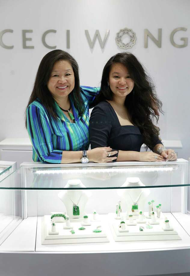 Ceci Wong (left) and her daughter Chloe Lee at their shop Ceci Wong jewelry in Menlo Park. Photo: Liz Hafalia / The Chronicle / ONLINE_YES