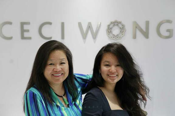 Ceci Wong (left) and her daughter Chloe Lee at their shop Ceci Wong jewelry in Menlo Park.