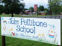 John Pettibone School, 'where children learn and laugh,' is at risk of closure in New Milford to save money for the town. May 2014 file photo