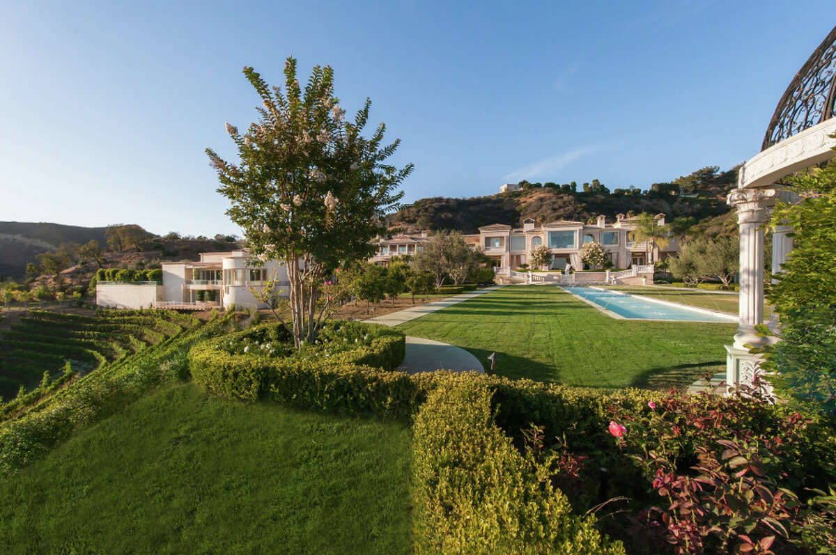 The 53,000-square-foot 'Palazzo di Amore' estate in southern California has 12 bedrooms and 23 bathrooms. It was listed at $195 million in 2014.