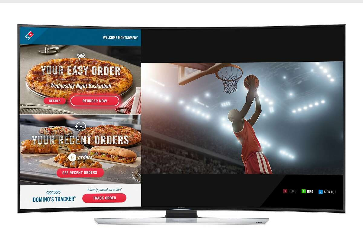 You can now order and track your pizza from Domino's through your Samsung Smart TV. (PRNewsFoto/Domino's Pizza)
