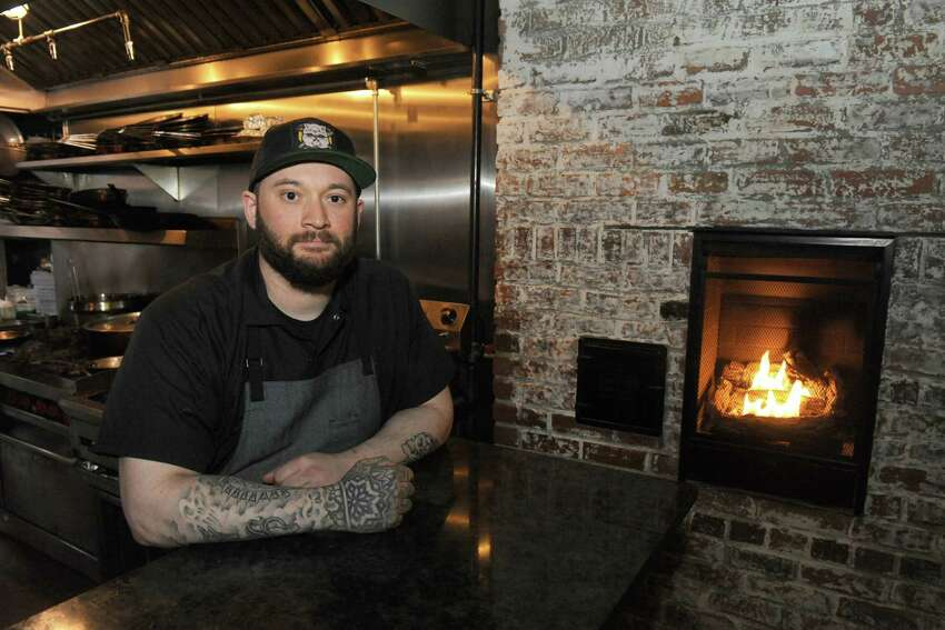 Chef Nick Ruscitto of Peck's Arcade on Wednesday April 22, 2015 in Troy, N.Y. (Michael P. Farrell/Times Union)