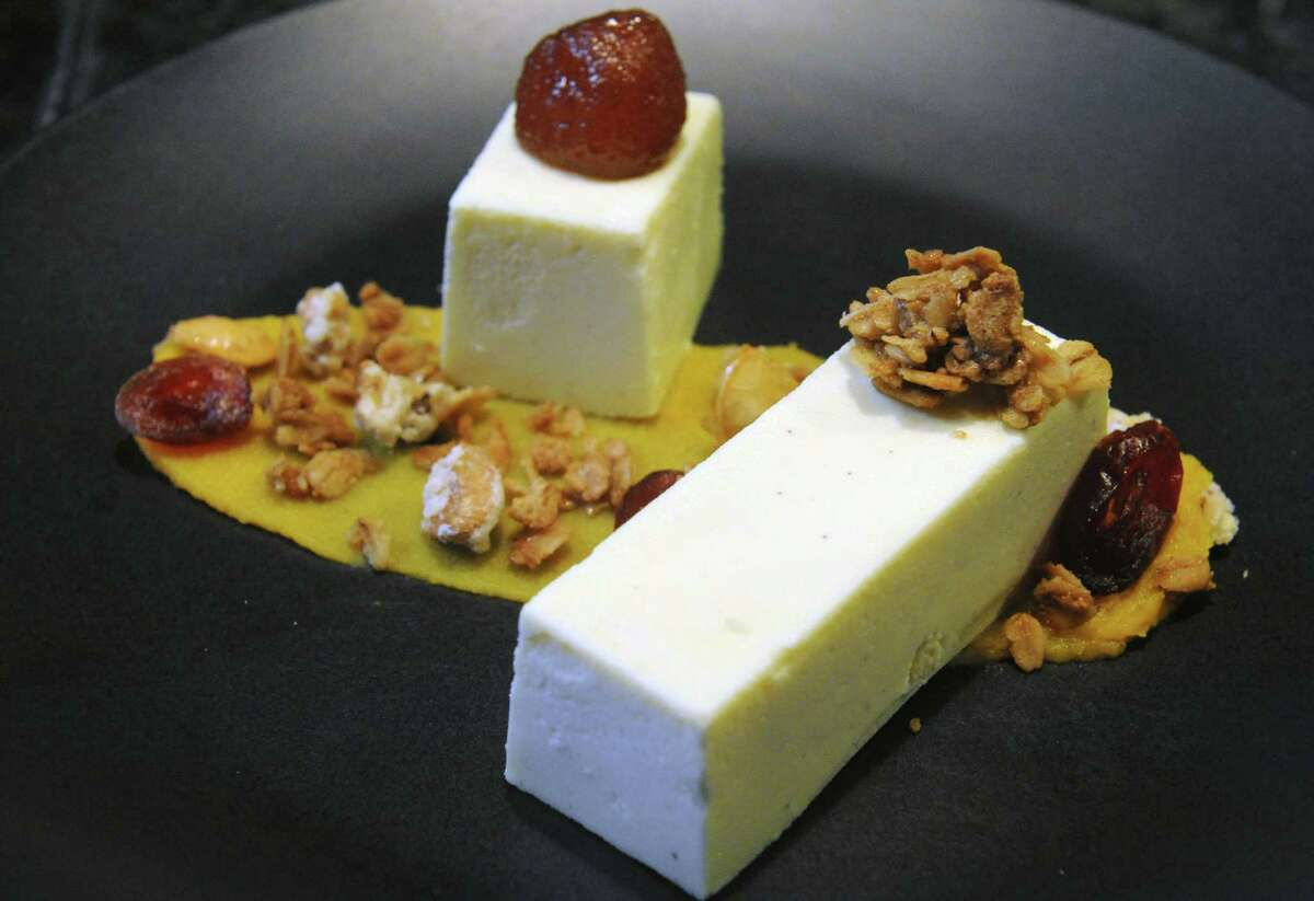 Goat cheese cake at Peck's Arcade on Wednesday April 22, 2015 in Troy, N.Y.