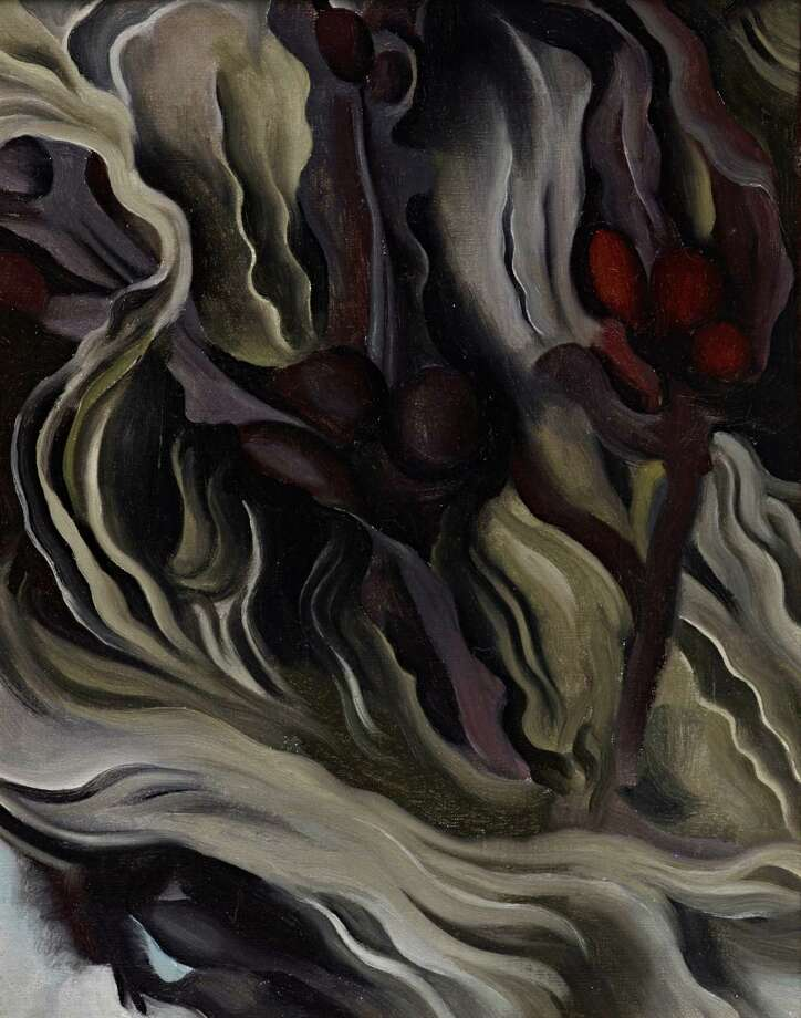 """Georgia O'Keeffe, whose oil painting """"Seaweed"""" (1927) is part of """"Modern Times"""" at Stanford's Cantor Arts Center, yearned to be known as an American painter, not a female artist. Photo: Cantor Arts Center / ONLINE_YES"""