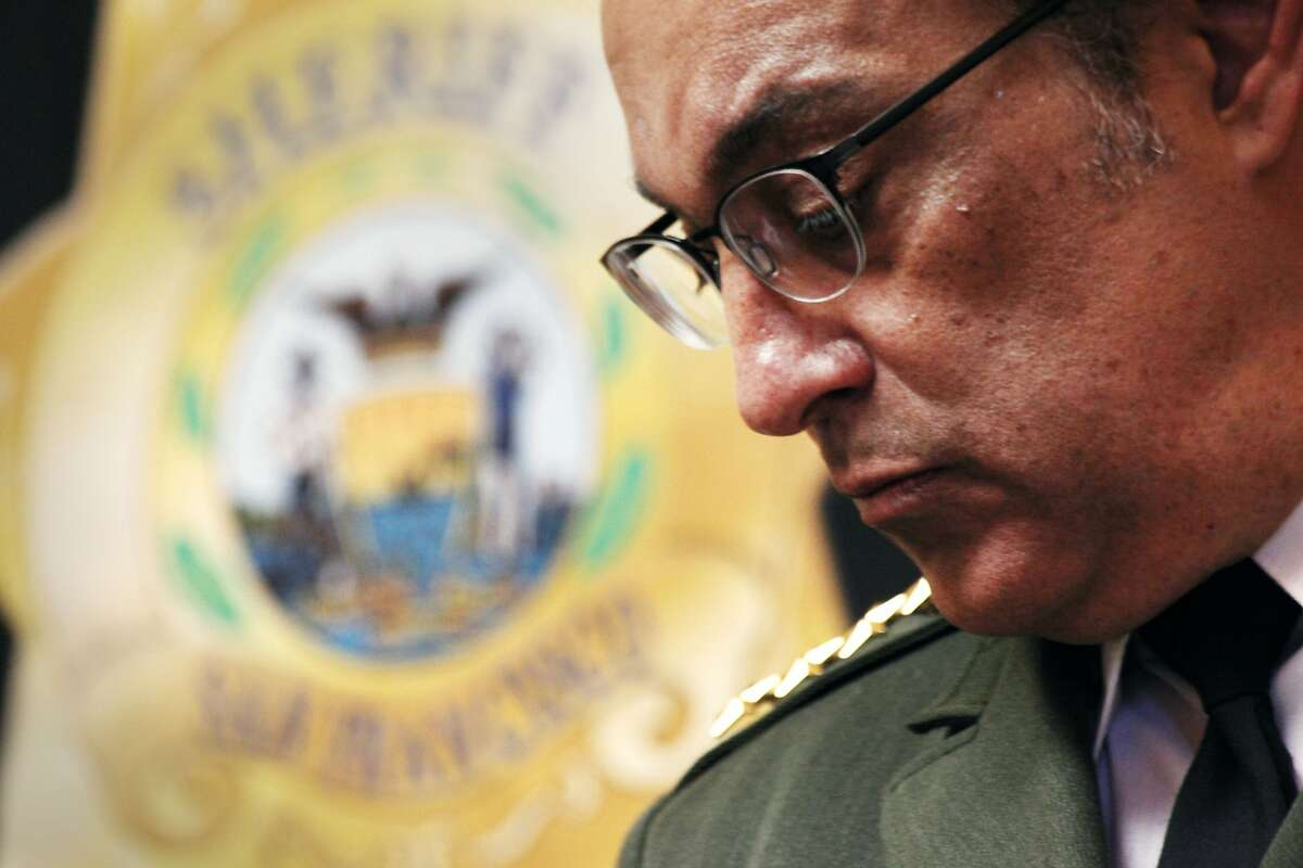 San Francisco Sheriff Ross Mirkarimi at the news conference about new police body cameras in City Hall San Francisco, Calif., Thursday April 30, 2015.
