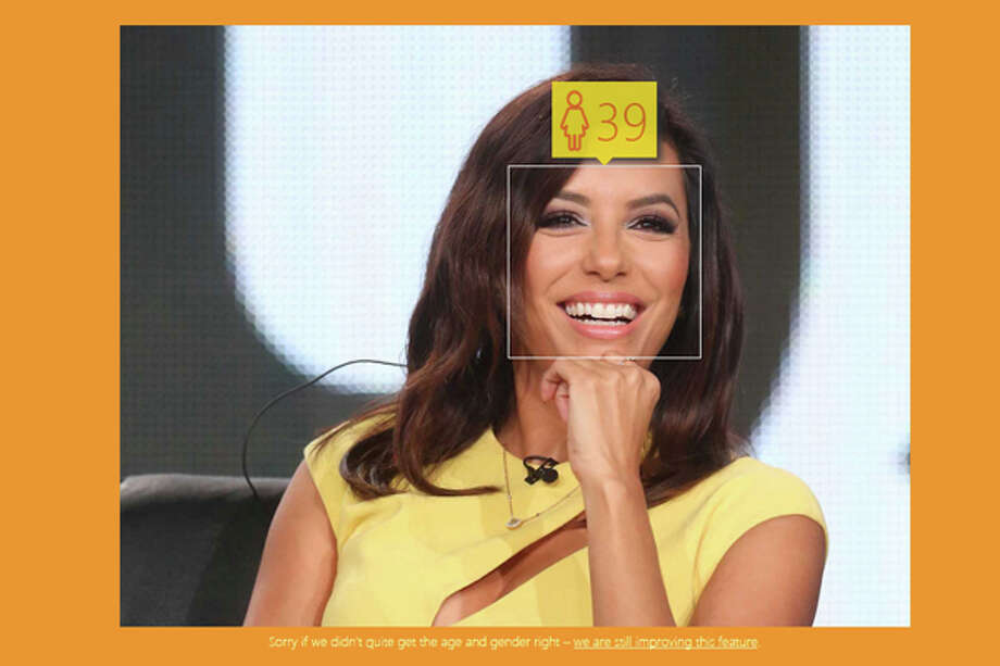 The #HowOldRobot is only a year off on Eva Longoria, who is really 40. Photo: How-Old.net