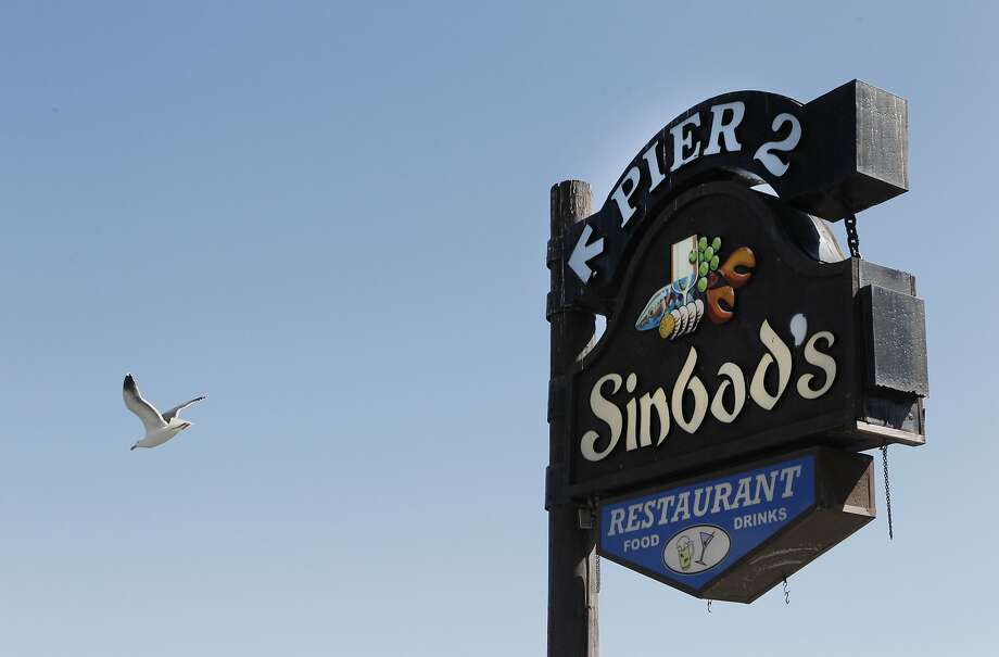 Sinbad's sign on Embarcadero in San Francisco, Calif., Thursday March 5, 2015. Photo: Sophia Germer, The Chronicle