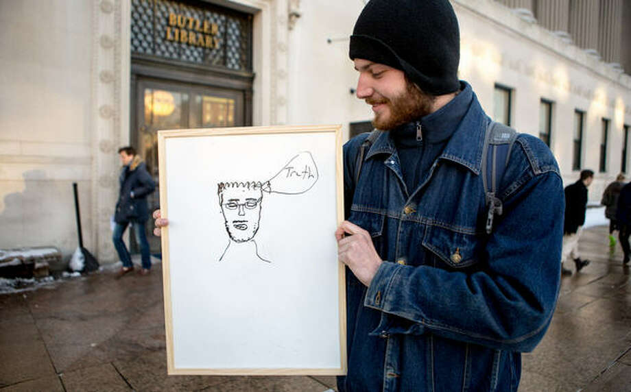 People draw their friend, Muhammad. Amani Alkhat hoped her project would poke fun at a Muhammad drawing contest to be held in Texas next week. Source: MuslimGirl.net Photo: MuslimGirl.net