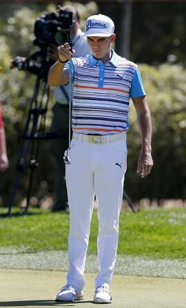 Rickie Fowler figured out a putt on the second hole Thursday April 30, 2015. PGA Tour's Match Play Championship, day two, held at Harding Park in San Francisco, Calif.