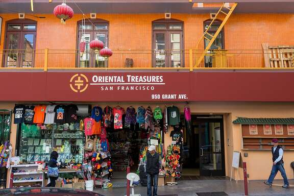 The Chinatown Community Development Center says that new co-working space 1920c at 950 Grant Avenue violates  zoning codes and held a press conference outside other office ahead of a opening party scheduled for Friday in San Francisco, Thursday, April 30, 2015. Here the exterior of the space which is above a souvenir shop and below residences.