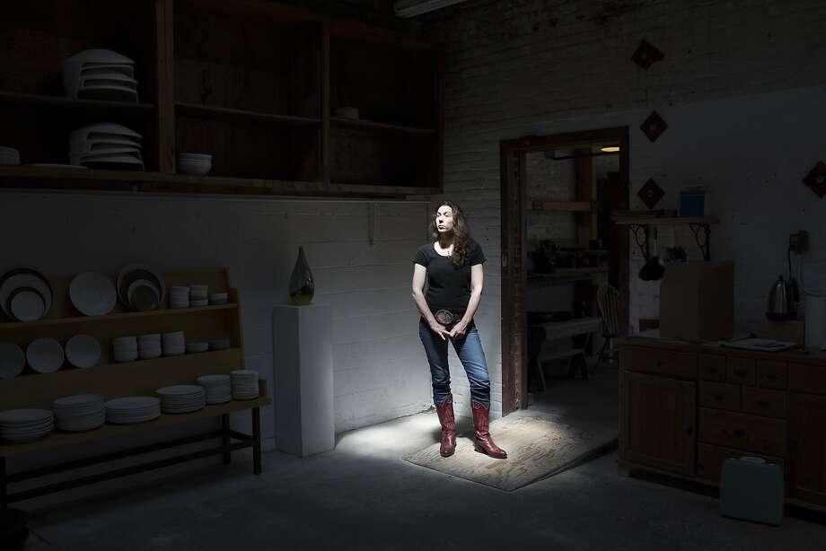 Sarah Kobrinsky, who has moved to Point Richmond, helps run a Berkeley pottery store with her husband. Photo: Tim Hussin, Special To The Chronicle