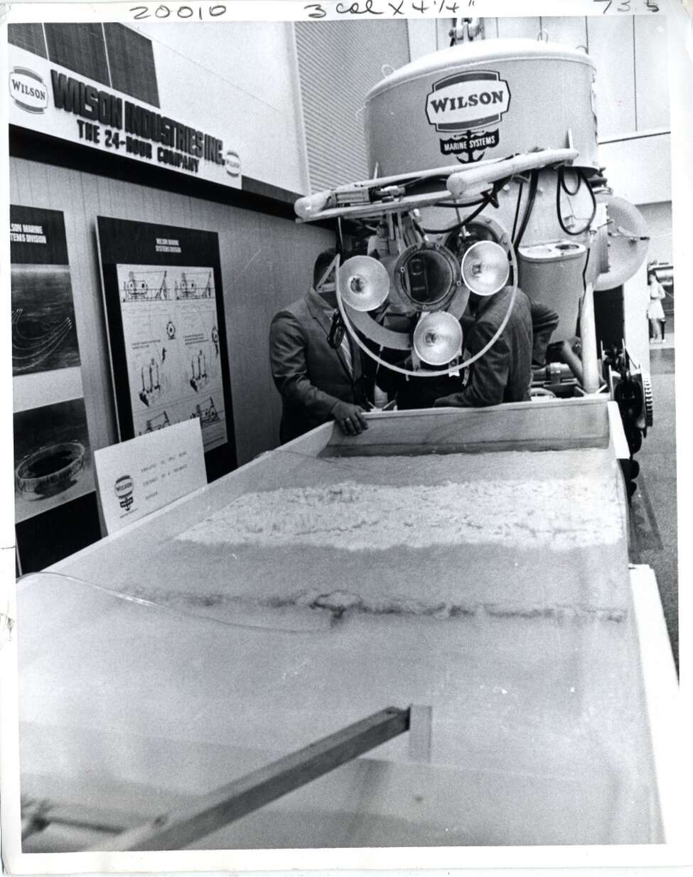 1970 - Wilson Marine Systems' Naucrates was on display at Offshore Technology Conference.