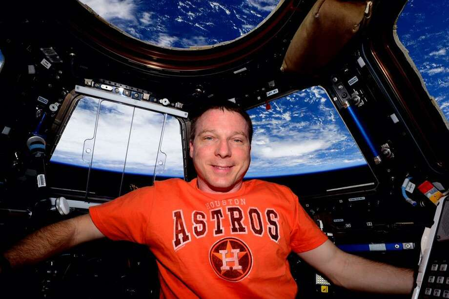 Terry Virts grew up and remains an Orioles fans, but it's natural for an astronaut to have some affection for the Astros while aboard the International Space Station.