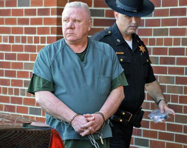 Charles Wilkinson, accused of killing his wife, is lead into Saratoga County Court Thursday April 30, 2015 in Ballston Spa, NY.   (John Carl D'Annibale / Times Union) Photo: John Carl D'Annibale / 00031607A