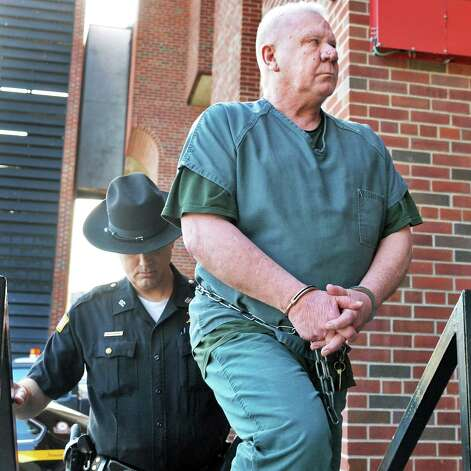 Charles Wilkinson, accused of killing his wife, is brought into Saratoga County Court Thursday April 30, 2015 in Ballston Spa, NY.   (John Carl D'Annibale / Times Union) Photo: John Carl D'Annibale / 00031607A