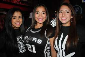 MySpy caught these fans cheering on the Spurs during Game 6 at the AT&T center on April 30, 2015.
