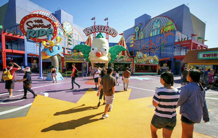 "A replica of Springfield, a ""Simpsons""-themed attraction, will open at Universal Studios Hollywood in May. Photo: David Sprague / ONLINE_YES"