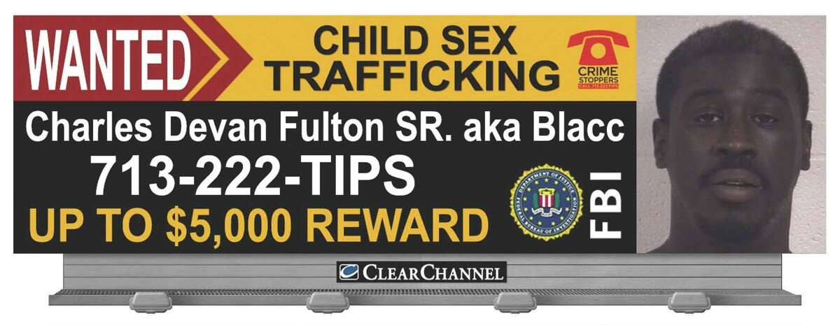 Charles Devan Fulton Sr., 39, was found guilty by a U.S. District Court jury in Houston on five counts related to sex trafficking of minors, July 6, 2016. Fulton, of Galveston, is set for sentencing in October, 2016.A giant billboard was used to help identify Fulton while authorities were searching for him.