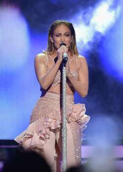 MIAMI, FL - APRIL 30:  Jennifer Lopez performs musical tribute to Selena performs onstage at the 2015 Billboard Latin Music Awards presented bu State Farm on Telemundo at Bank United Center on April 30, 2015 in Miami, Florida. Photo: Rodrigo Varela, Getty Images / 2015 Getty Images