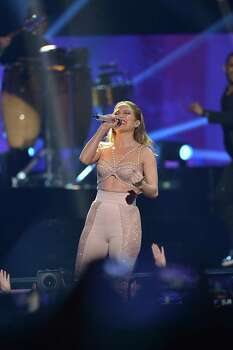 MIAMI, FL - APRIL 30:  Jennifer Lopez performs musical tribute to Selena while performing with Los Dinos onstage at the 2015 Billboard Latin Music Awards presented bu State Farm on Telemundo at Bank United Center on April 30, 2015 in Miami, Florida. Photo: Rodrigo Varela, Getty Images / 2015 Getty Images